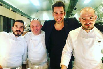 Alessio Impagliazzo (en noir) et le chef Matteo Lorenzini et bruno Brangea ©Sandrine Kauffer..JPG