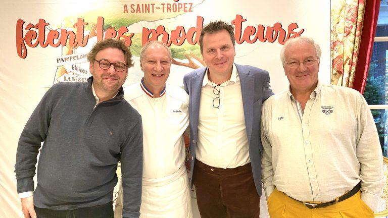 De G à D : Arnaud Donckele, Eric Frechon, Christophe Hardiquest et Loic de Saleneuve ©Sandrine Kauffer-Binz