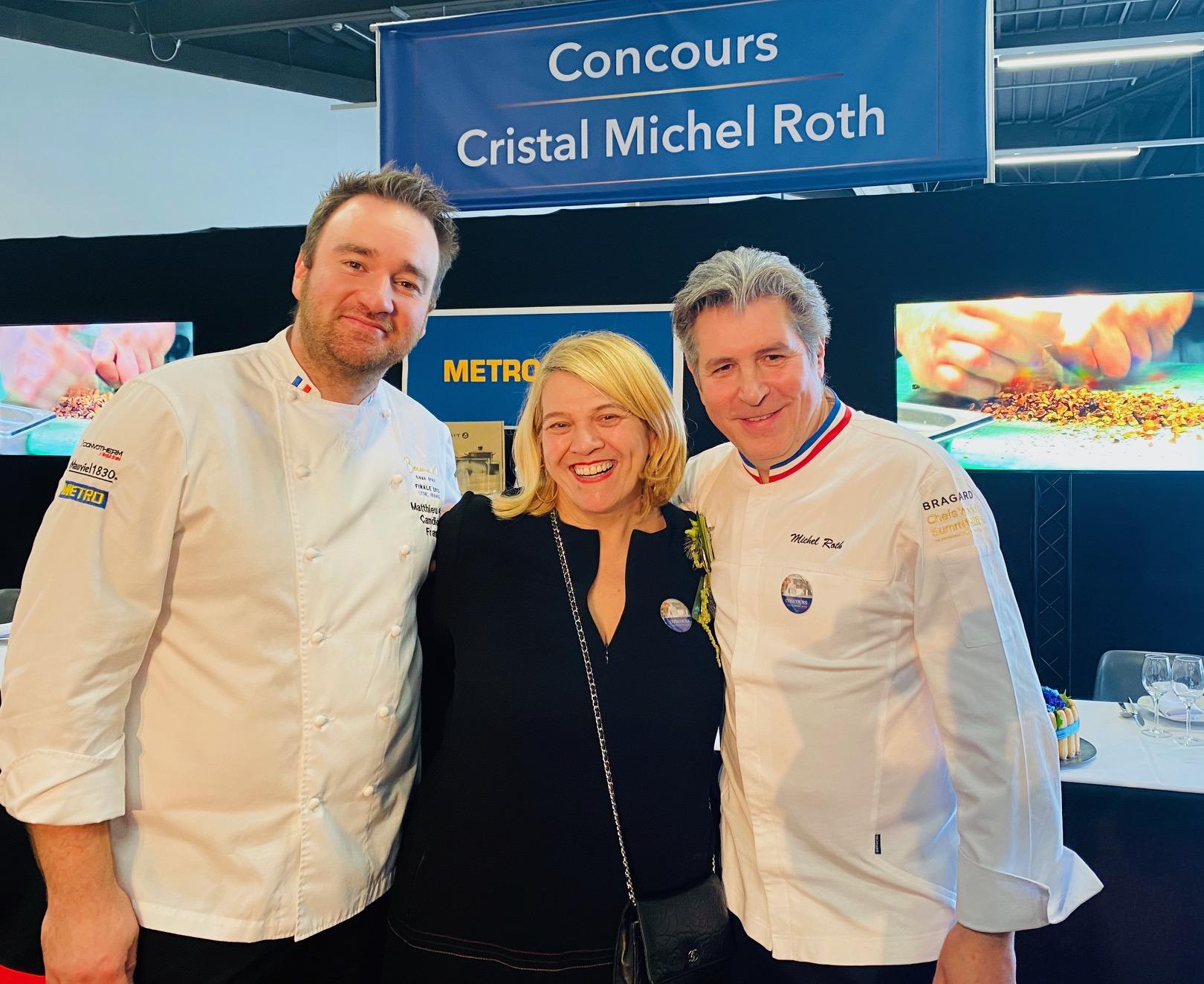 """Mathieu Otto, Lea Linster, et Michel Roth """"sous le signe du Bocuse d'or"""" ©Sandrine Kauffer-Binz"""