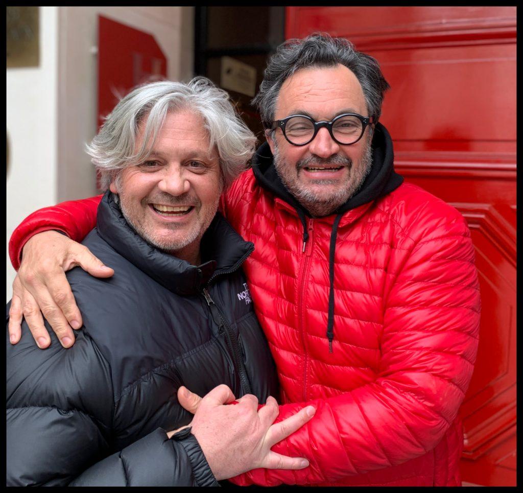 Sébastien Ripari avec le chef Yves Camdeborde