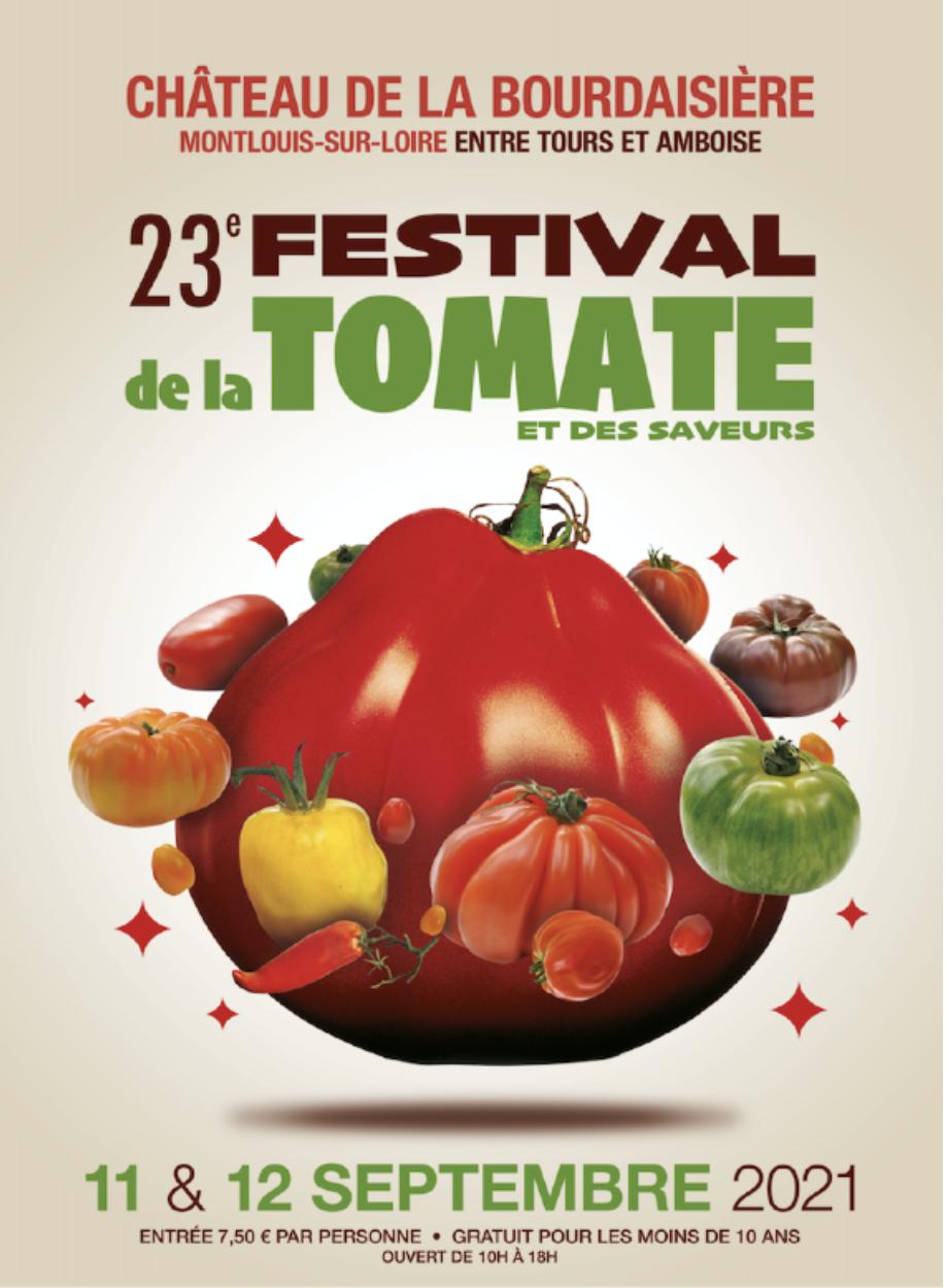 Affiche Evénement Festival de la Tomate - Château de la Bourdaisière