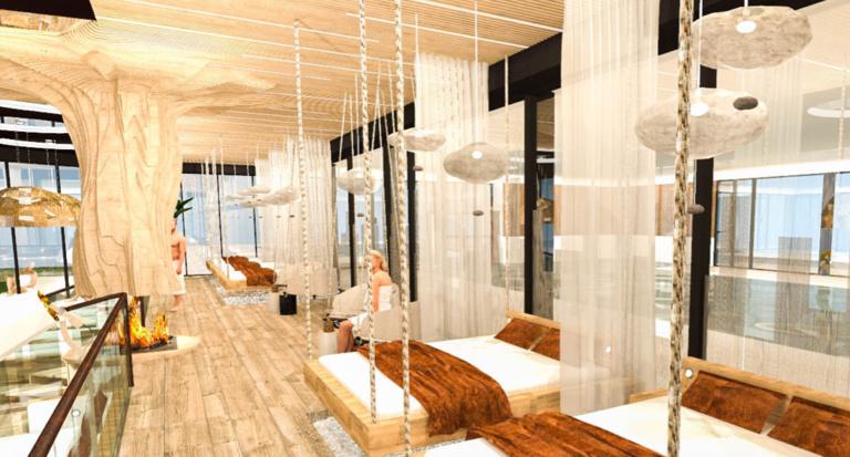 Plan de la nouvelle salle de repos / véranda du Spa chez Julien à Fouday. Ouverture prévue juillet 2020