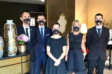 L'équipe de salle du restaurant Julien Binz