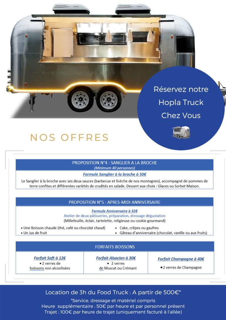 Les offres du Hopla Truck by Le Chambard