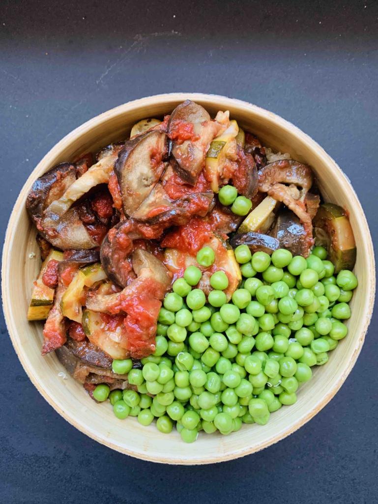 Ratatouille et salade de lentilles