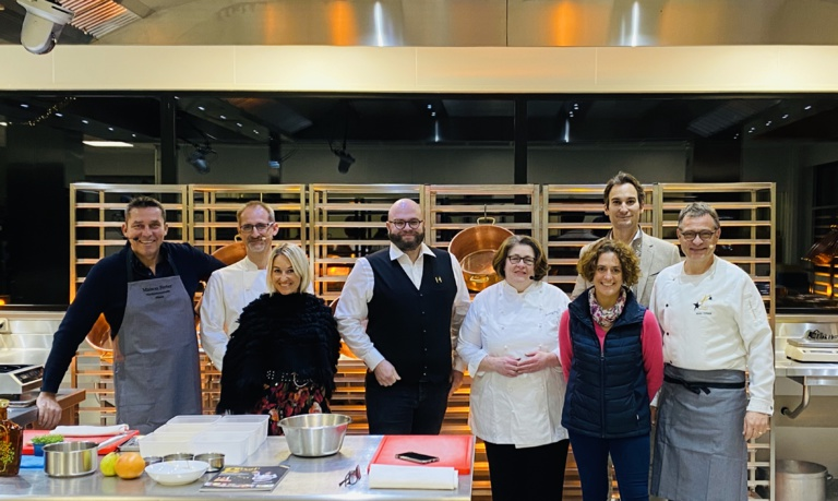 De G à D : Lionel Augier, Sandrine & Julien Binz, Guillaume Zahnecker, Chirstine Ferber, Edouard Baumann et Anne-Catherine & Bruno Ferber