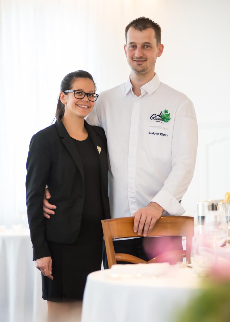 Sandie Ling et Ludovic Kientz au Gourmet à Drusenheim, 1* Michelin en 2021