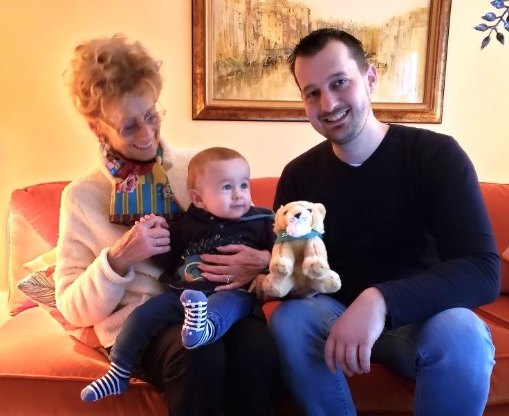 Le 18 janvier 2021 chez Monique Jung avec Bryan (leur 1ere étoile, né en 2020