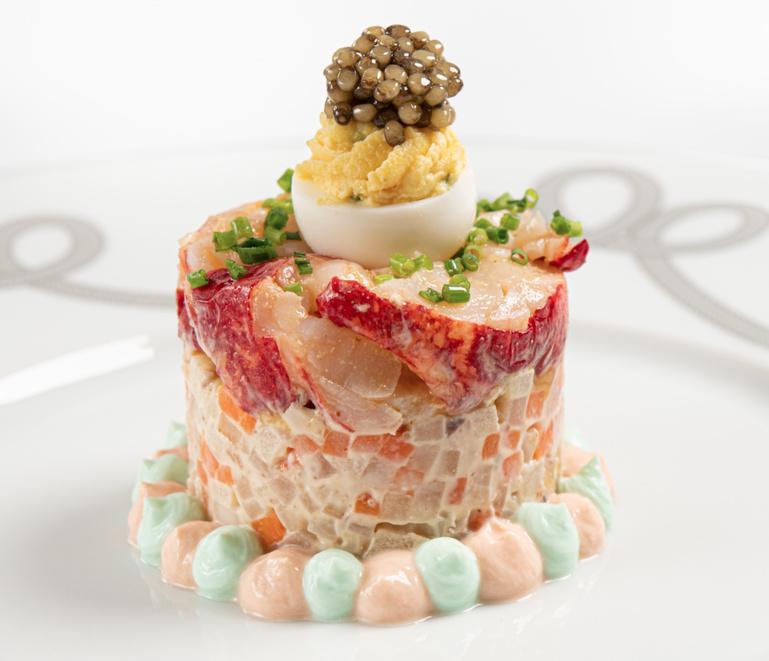 Homard bleu Breton, en Salade de rémoulade façon Waldorf