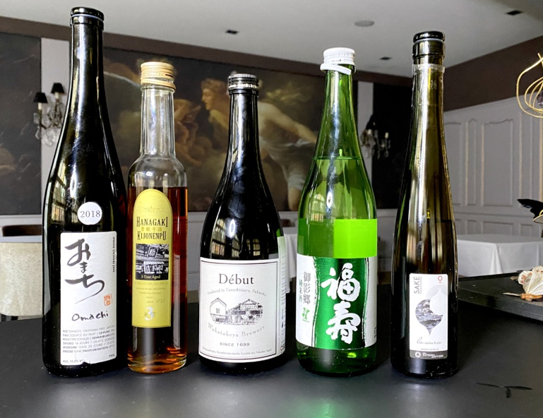Dégustation de sake au restaurant Julien Binz ©Sandrine Kauffer-Binz