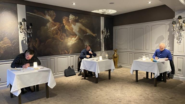 Daniel Zenner, Marc Esquerré et Olivier Nasti en dégustation Gault & Millau ©Sandrine Kauffer-Binz