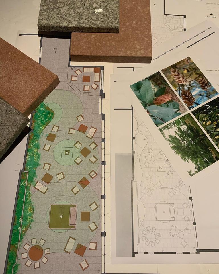 les premiers plans et projets du nouveau Jardin de la Fourchette des Ducs