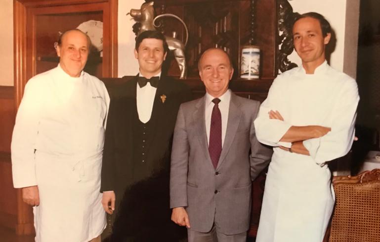 Paul, Jean-Pierre et Marc Haeberlin avec Serge Dubs