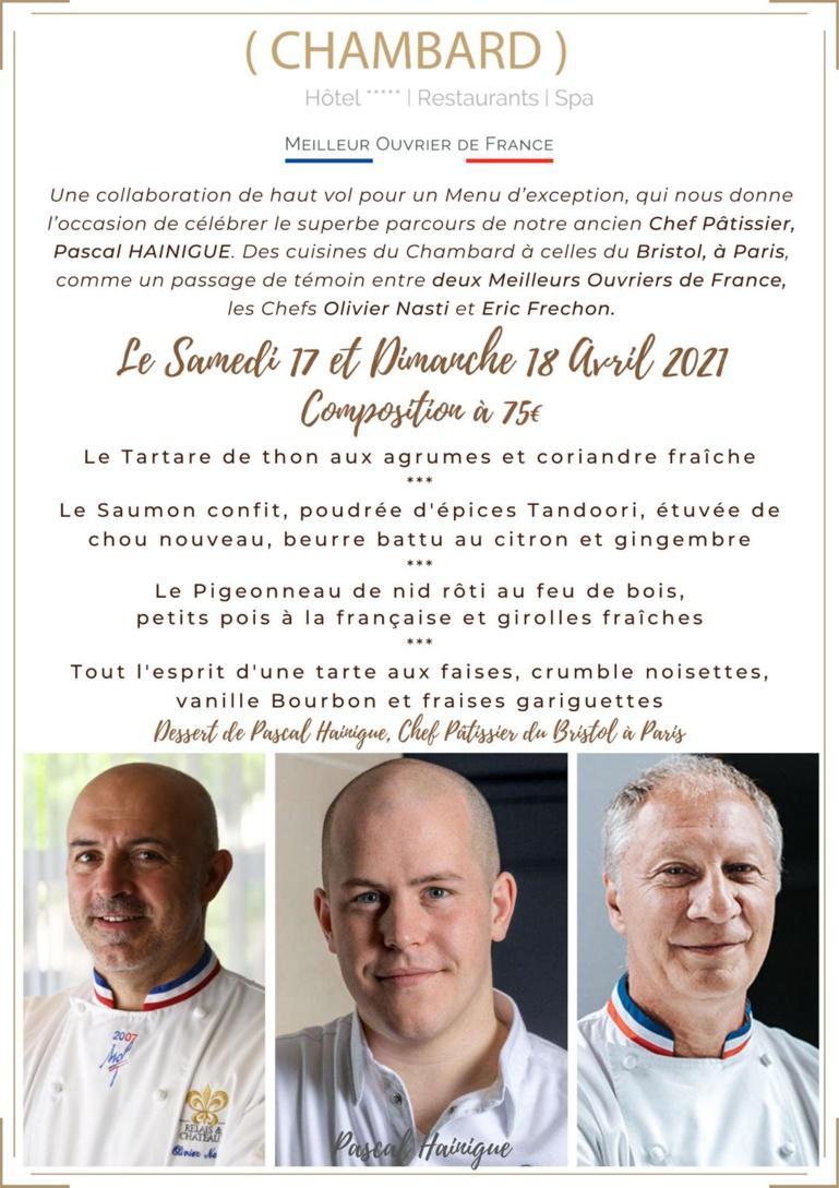 Un menu signé Olivier Nasti et Pascal Hainingue