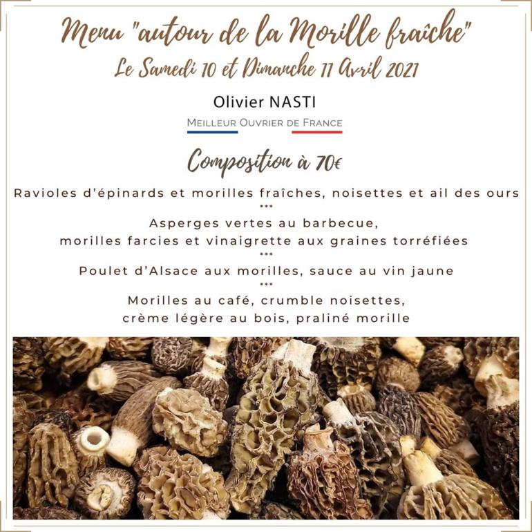 Un menu tout morille signé Olivier Nasti