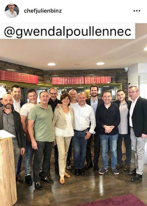 """photo archive: Gwendal Poullennec au Chambard entouré des chefs du """"Grand-Est"""""""