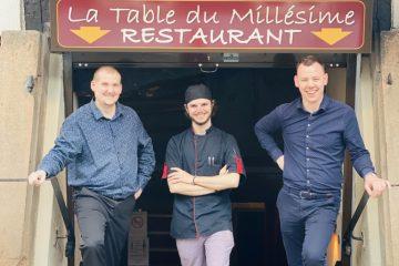 Cédric Jung, Grégoire Stoll et Jérôme Deck ouvrent la Table du Millésime ©Sandrine Kauffer-Binz