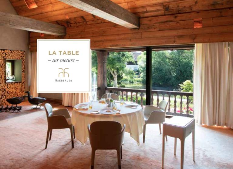 """""""La Table Sur-Mesure Haeberlin"""" (2-10 pers) dans la salle du Pigeonnier de l'auberge de l'Ill"""